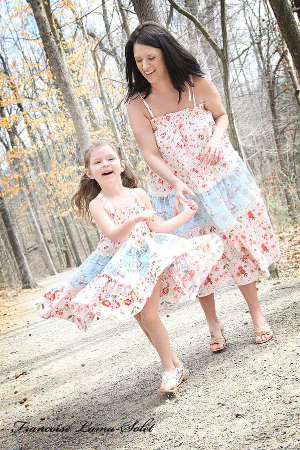Mother and daughter matching twirl dress skirt Country Twirl